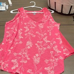 Old navy sleeveless top V-neck extra large pink